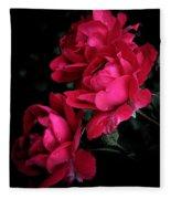 Triple Rose  Fleece Blanket