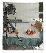 Tripod And Bowl Of Fruit Fleece Blanket