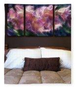 Triptych Display Sample 01 Fleece Blanket