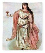 Tristan And Isolde, 1865 Fleece Blanket