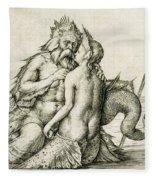 Triton With The Nereid Fleece Blanket