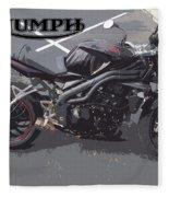 Triumph Motorcycle Fleece Blanket