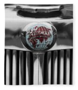 Triumph Roadster Emblem Selective Color Fleece Blanket