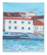 Trogir Croatia Fleece Blanket