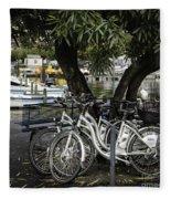 Trois Bikes Fleece Blanket