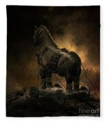 Trojan Horse Fleece Blanket