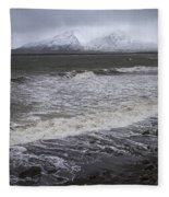 Trollaskagi Black Sand Beach Fleece Blanket