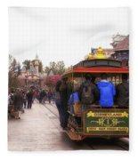Trolley Car Main Street Disneyland 02 Fleece Blanket