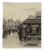 Trolley Car Main Street Disneyland Heirloom Fleece Blanket