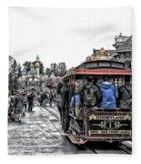 Trolley Car Main Street Disneyland Sc Fleece Blanket