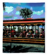 Trolley Stop Fleece Blanket