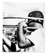 Trombone Man Bw Fleece Blanket