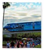 Tron Monorail At Walt Disney World Fleece Blanket