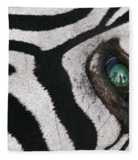 Trophy Hunter In Eye Of Dead Zebra Fleece Blanket
