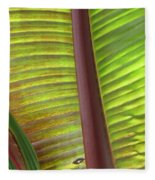 Tropical Banana Leaf Abstract Fleece Blanket