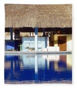 Tropical Bar Fleece Blanket
