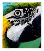 Tropical Bird - Colorful Macaw Fleece Blanket