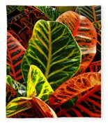 Tropical Croton Fleece Blanket