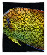 Tropical Fish 12 - Abstract Art By Sharon Cummings Fleece Blanket