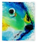 Tropical Fish 2 - Abstract Art By Sharon Cummings Fleece Blanket