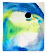 Tropical Fish 3 - Abstract Art By Sharon Cummings Fleece Blanket