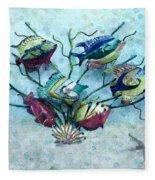 Tropical Fish 4 Fleece Blanket
