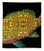 Tropical Fish Art 14 By Sharon Cummings Fleece Blanket