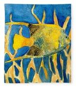 Tropical Fish Art Print Fleece Blanket