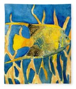 Tropical Fish Art Print Fleece Blanket