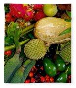 Tropical Fruits Fleece Blanket