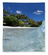 Tropical Glass Fleece Blanket