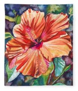 Tropical Hibiscus 5 Fleece Blanket