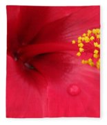 Tropical Hibiscus - Antigua Wind 01 Fleece Blanket