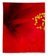 Tropical Hibiscus - Antigua Wind 01a Fleece Blanket