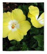 Tropical Hibiscus - Bonaire Wind 02 Fleece Blanket