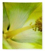 Tropical Hibiscus - Bonaire Wind 06a Fleece Blanket