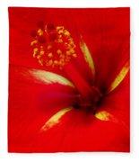 Tropical Hibiscus - Starry Wind 02a Fleece Blanket