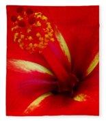 Tropical Hibiscus - Starry Wind 03a Fleece Blanket