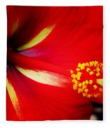 Tropical Hibiscus - Starry Wind 04a Fleece Blanket