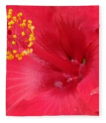 Tropical Hibiscus - Trinidad Wind 01 Fleece Blanket