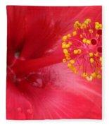Tropical Hibiscus - Trinidad Wind 02 Fleece Blanket