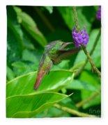 Tropical Hummingbird Fleece Blanket
