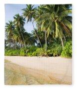 Tropical Island Beach Scenery Fleece Blanket