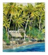 Tropical Island  Fleece Blanket