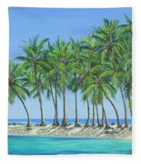 Tropical Lagoon Fleece Blanket