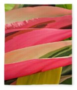 Tropical Leaves Abstract 3 Fleece Blanket