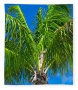 Tropical Palm Portrait Fleece Blanket