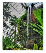 Tropical Paradise Falling Waters Buffalo Botanical Gardens Series   Fleece Blanket