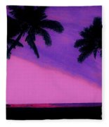 Tropical Pink Sunset Fleece Blanket