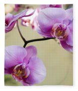 Tropical Radiant Orchid Flowers Fleece Blanket